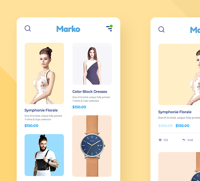 PSD-Shopping-App