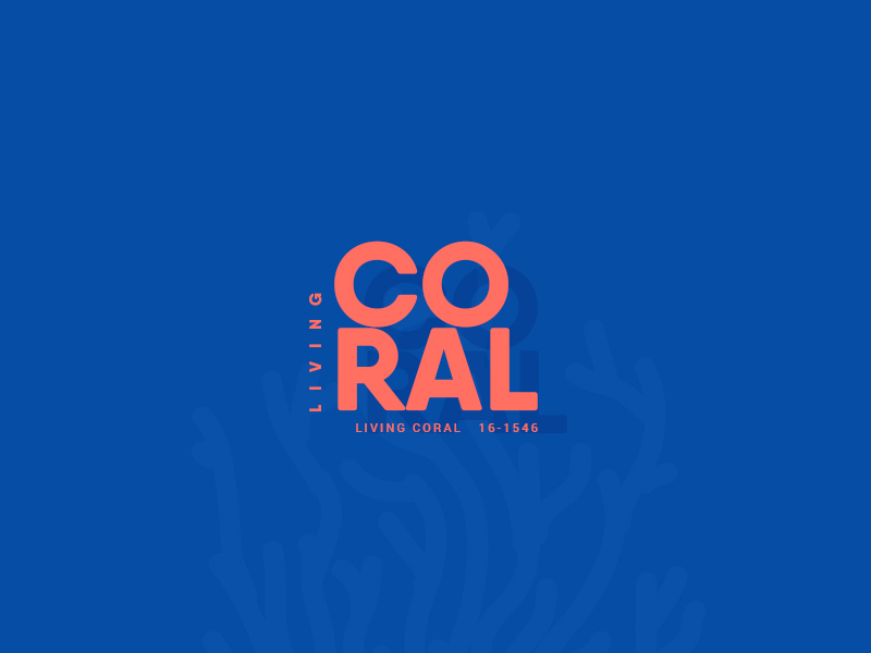 Living Coral in Typography